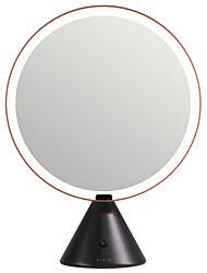 Недорогие -Косметические зеркала Светодиодная лампа / Женский / Лучшее качество Составить 1 pcs ABS Круглая универсальный / Повседневные / Косметика Мода / Modern Стол / На каждый день / Профессиональный стиль