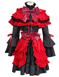 cheap -Inspired by K Kushina Anna Anime Cosplay Costumes Japanese Cosplay Suits Dress Shawl Cap For Women's