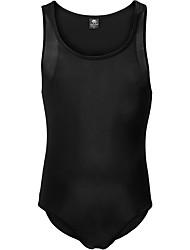 cheap -Men's Sporty Black White Purple One-piece Swimwear Swimsuit - Solid Colored Racerback M L XL Black