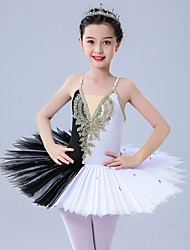 cheap -Ballet Leotards / Tutus & Skirts Girls' Performance / Theme Party Polyester / Tulle Pleats / Pearls / Embroidery Sleeveless Leotard / Onesie