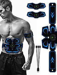 cheap -Abs Stimulator Abdominal Toning Belt EMS Abs Trainer Sports Silicon PU(Polyurethane) Gym Workout Exercise & Fitness Smart Electronic Muscle Toner Muscle Toning Tummy Fat Burner For Men Women