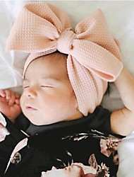 cheap -Kids / Toddler / Newborn Unisex / Girls' Basic / Sweet Solid Colored Cotton Hair Accessories Black / Wine / White One-Size