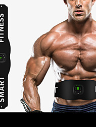 cheap -Abs Stimulator Abdominal Toning Belt EMS Abs Trainer Sports Silicon Gym Workout Exercise & Fitness Smart Electronic Muscle Toner Muscle Toning Tummy Fat Burner For Men Women