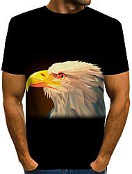 cheap -Men's Plus Size Graphic Animal T-shirt Daily Wear Round Neck White / Black / Navy Blue / Short Sleeve