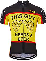 Недорогие -21Grams Муж. С короткими рукавами Велокофты Черный / красный Черный / желтый Красный + синий Ретро Новинки Пиво Октоберфест Велоспорт Джерси Верхняя часть Горные велосипеды Шоссейные велосипеды