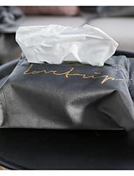 cheap -Nordic bronzing velvet tissue box light luxury fabric velvet modern cover