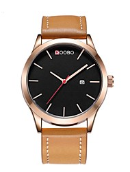 cheap -Men's Sport Watch Quartz Black / Brown 30 m Water Resistant / Waterproof Calendar / date / day Day Date Analog Casual Outdoor - Black Brown One Year Battery Life