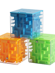 cheap -Novelty 3D Money Maze Bank Cube Puzzle Saving Coin Collection Case Box Brain Game Kids Toy Gift