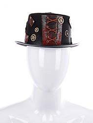cheap -Men's Basic Polyester Bucket Hat-Color Block All Seasons Black