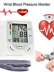 cheap -Portable Automatic Digital LCD Display Wrist Blood Pressure Monitor Device Heart Beat Rate Pulse Meter Measure Tonometer White