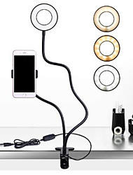 cheap -Selfie LED Ring Light 2 in 1 Cell Phone Mobile Holder 360 Degree Lazy Bracket Desk Live Stream Lamp Flash For iPhone X 8 phone