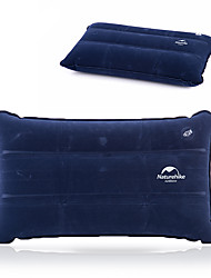 cheap -Naturehike Camping Travel Pillow Camping Pillow Outdoor Camping Portable Inflatable Ultra Light (UL) Compact Flocked 44*27 cm for Camping Traveling All Seasons Sky Blue Dark Blue