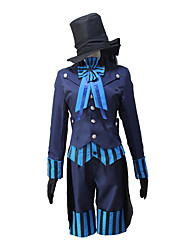 cheap -Inspired by Black Butler Ciel Phantomhive Anime Cosplay Costumes Japanese Cosplay Suits Coat Vest Gloves For Men's Women's / Shorts / Cap / Bow Tie