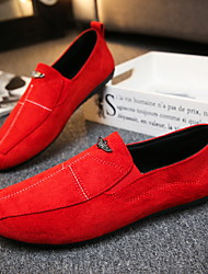 cheap -Men's Loafers & Slip-Ons Casual Office & Career Walking Shoes Suede Breathable Non-slipping Wear Proof Black Red Gray Spring & Summer