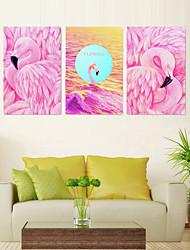 Недорогие -5 штук печать декоративной живописи масляной живописи дома декоративные настенные росписи на холсте 40x60 см x 3 животных абстрактный пейзаж
