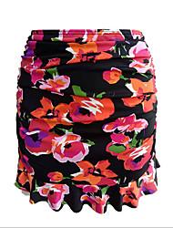 cheap -Women's Bikini Bottoms Swimwear Swimsuit - Floral S M L Black Yellow Blushing Pink