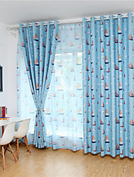 cheap -Gyrohome 1PC Sailing Boats Shading High Blackout Curtain Drape Window Home Balcony Dec Children Door *Customizable* Living Room Bedroom Dining Room