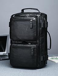 Недорогие -Водонепроницаемость PU Молнии Дорожная сумка Сплошной цвет на открытом воздухе Черный / Коричневый