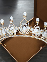 cheap -Women's Tiaras For Wedding Party Evening Prom Festival Art Deco Alloy Golden 1pc