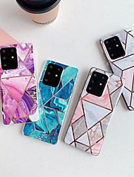 Недорогие -чехол для samsung карта сцены samsung galaxy s20 s20 plus s20 ultra a51 a71 цветной рисунок шитья гальванического алмаза тпу материал imd процесс все включено оболочка мобильного телефона