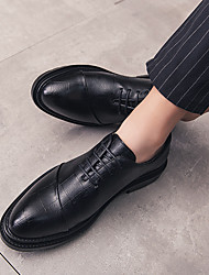 cheap -Men's PU Spring & Summer / Fall & Winter Business / Casual Oxfords Walking Shoes Breathable Black / Wedding / Party & Evening