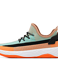 cheap -Men's Tissage Volant Fall / Spring & Summer Sporty / Casual Athletic Shoes Running Shoes / Walking Shoes Breathable Color Block Black / Red / Orange / Black / Purple
