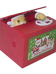 cheap -Music Box Christmas Gift Santa Suits Office Desk Toys Lovely Electric Plastic Children's All Toy Gift 1 pcs