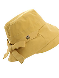 cheap -Women's Basic Polyester Sun Hat-Solid Colored Black White Yellow