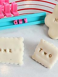 Недорогие -поделки печатных штамп трафарет буквенно-цифровые символы бесплатно с печатью печенье формы