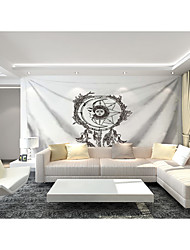 cheap -Custom Tapestry painting sun moon God Qing Dynasty suitable for bedroom living room Party activities TV background wall decoration   Wall Art Wall Tapestries Decoration M(150*120cm)