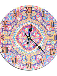 cheap -1pcs Ethnic Style Color Printing MDF Wall Clock Frameless