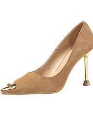 cheap -Women's Heels Stiletto Heel Pointed Toe Suede Spring & Summer Black / Camel / Almond