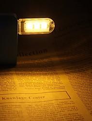 Недорогие -мини usb светодиодный ночной свет портативный настольная лампа 3 smd 5730 dc 5v книжная лампа белый теплый белый для ноутбука компьютера * 2