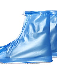 cheap -Women's Boots Flat Heel Round Toe PVC Booties / Ankle Boots Spring & Summer White / Blue