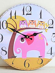 Недорогие -Мультфильм настенные часы мдф безрамное отделка стен