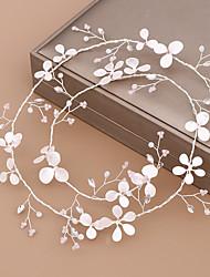 cheap -Women's Hair Jewelry For Wedding Wedding Geometrical Crystal Alloy White 1pc