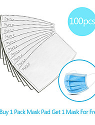 cheap -100pcs Carbon Filter Disposable Mask Gasket Isolation Filter Pad Anti-fog Haze Dust-proof Breathable Mask Replacement Pad Linen Cotton blend Pad