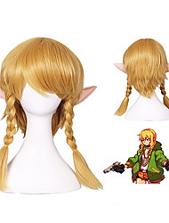 cheap -The Legend of Zelda Cosplay Cosplay Wigs Women's Side bangs 20 inch Heat Resistant Fiber Plaited Blonde Blonde Anime