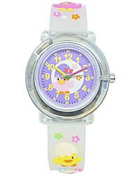 cheap -Kids Sport Watch Quartz Rubber White / Purple 30 m Chronograph Cute New Design Analog New Arrival Fashion - White Purple One Year Battery Life