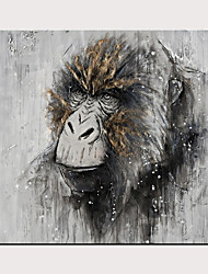 cheap -NO Frame And African Animal The Gorilla Black And White Subjects Oil Painting Canvas Large Size