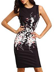 cheap -Women's Bodycon Dress - Geometric Wine Blue Black S M L XL