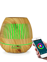 Недорогие -Смарт эфирное масло увлажнитель аромата Метеор древесины зерна аромат диффузор 400 мл аромат диффузор полый дизайн