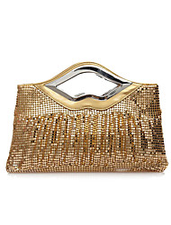 cheap -Women's Bags Polyester Alloy Evening Bag Solid Color Wedding Bags Wedding Party Event / Party Black Red Gold Silver