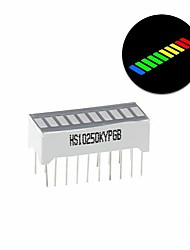 cheap -10-Segment Color LED BAR Graph Indicator DIP 1 Blue 4 Green 3 Yellow 2 Red