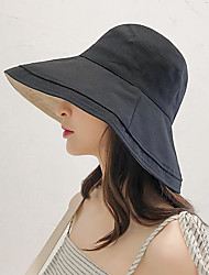 cheap -Women's Basic Polyester Sun Hat-Solid Colored Black Purple Yellow