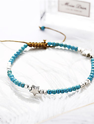 cheap -Anklet Simple Boho Fashion Women's Body Jewelry For Party Evening Gift Beads Alloy Blue 1 Piece