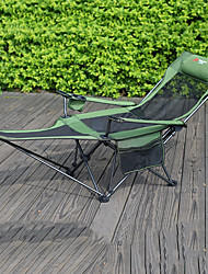 cheap -Camping Chair with Cup Holder Anti-Slip Portable Foldable Comfortable Steel Tube Oxford for 1 person Camping Camping / Hiking / Caving Traveling Picnic Autumn / Fall Winter Blue Grey Khaki Green