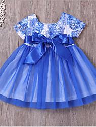 cheap -Kids Girls' Geometric Dress Blue