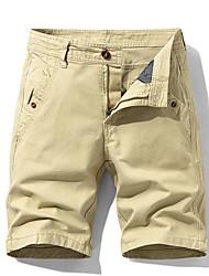 cheap -Men's Hiking Shorts Outdoor Regular Fit Sweat-wicking Cotton Shorts Fishing Climbing Beach Black Army Green Grey 30 32 34 36 38