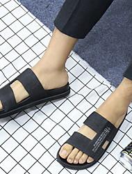 cheap -Men's PVC Spring & Summer Casual Slippers & Flip-Flops Breathable Slogan Gold / White